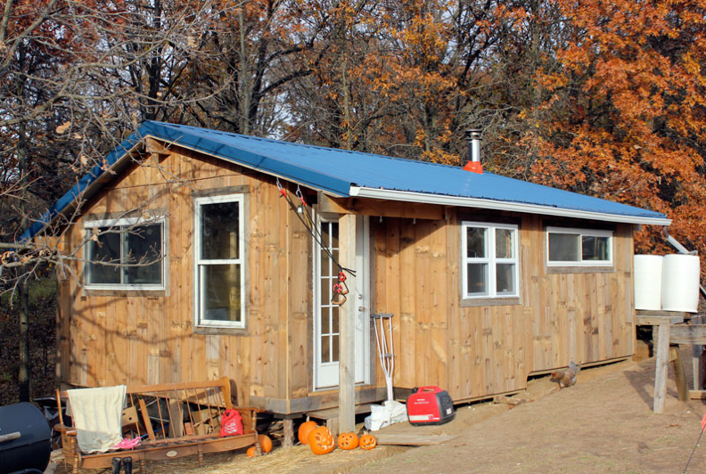 Family of four opts for tiny house living parenting for Tiny house for family of 4